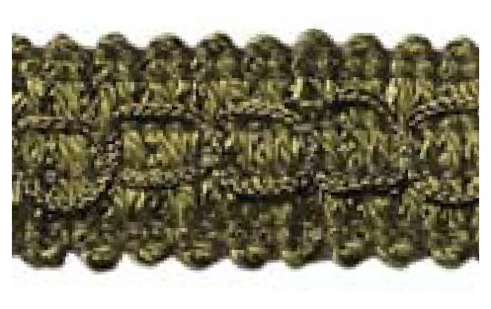 Gimp (Braided trim) 22mm  -  Green L50 - Value Pack 22 mtrs
